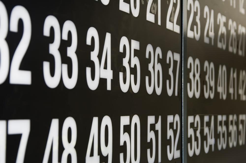 Section of bingo flashboard