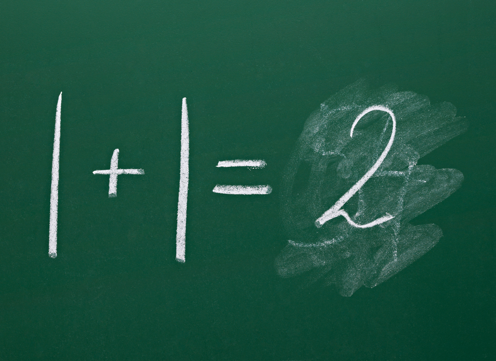 math simple equation on chalk board-1