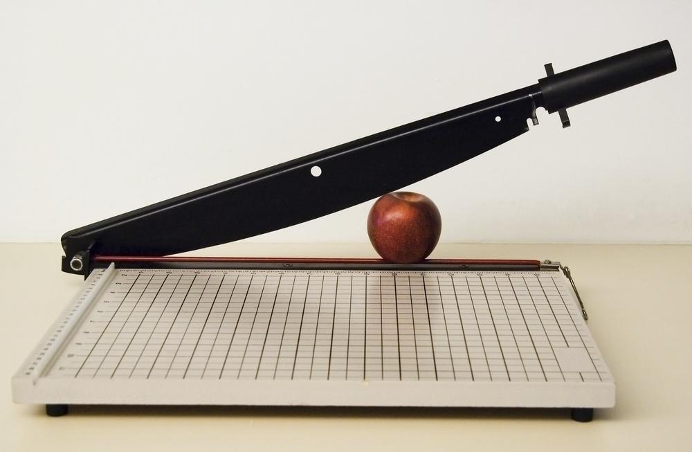 Apple in a paper cutter.jpeg