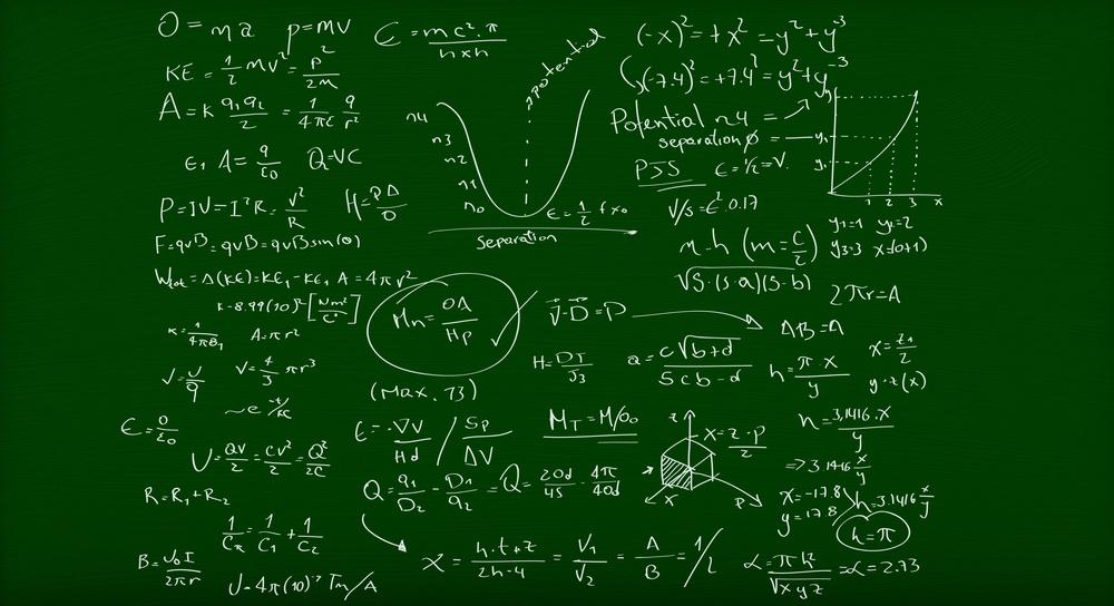 Math formulas written on a green chalkboard.jpeg