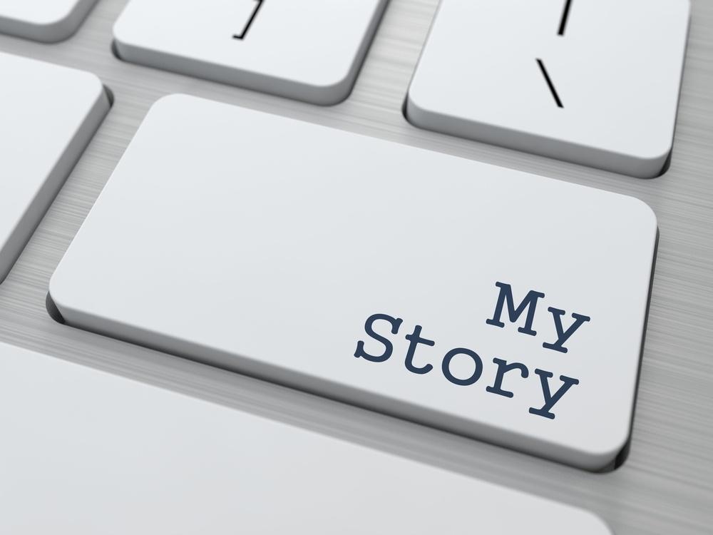 My Story -  Button on Modern Computer Keyboard..jpeg